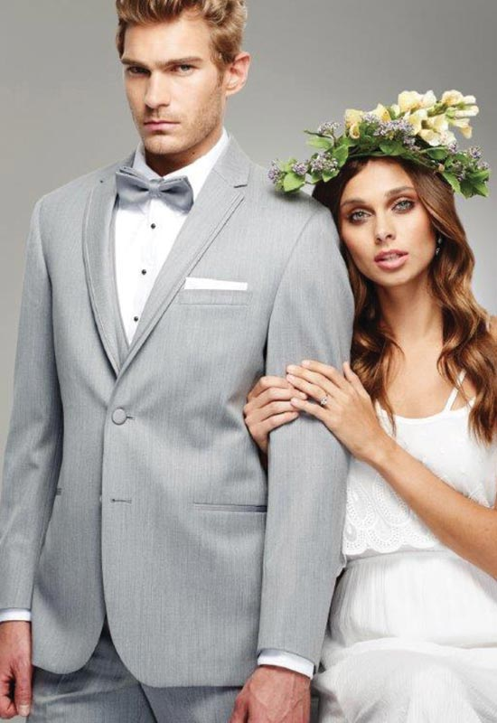 Light Gray Wedding Tux for rental at Love it at Stella's Tux Shop in Westminster, MD