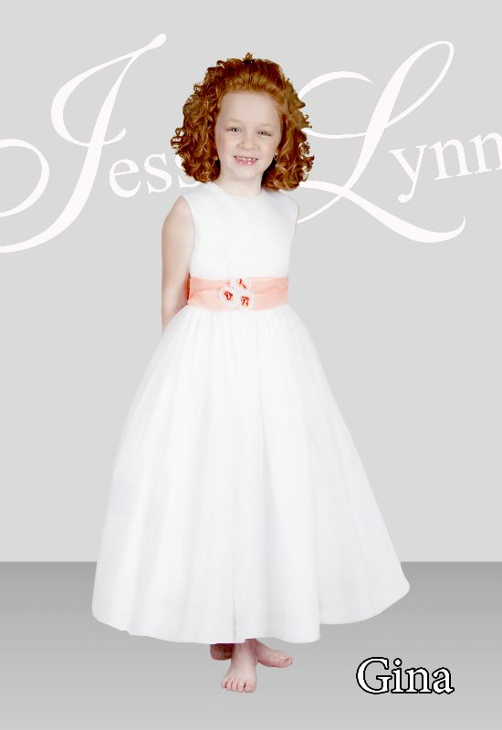 Gina in Jessica Lynn Flower Girl Gowns and Colorful Flower Girl Dresses at Love It! At Stella's in Baltimore Maryland