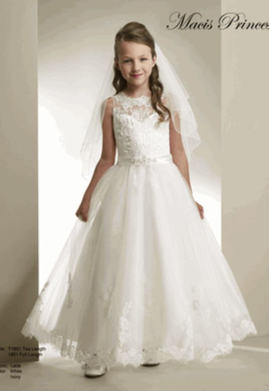 Macis Princess Ball Gown Flower Girl Dress at Love It! At Stella's in Baltimore Maryland