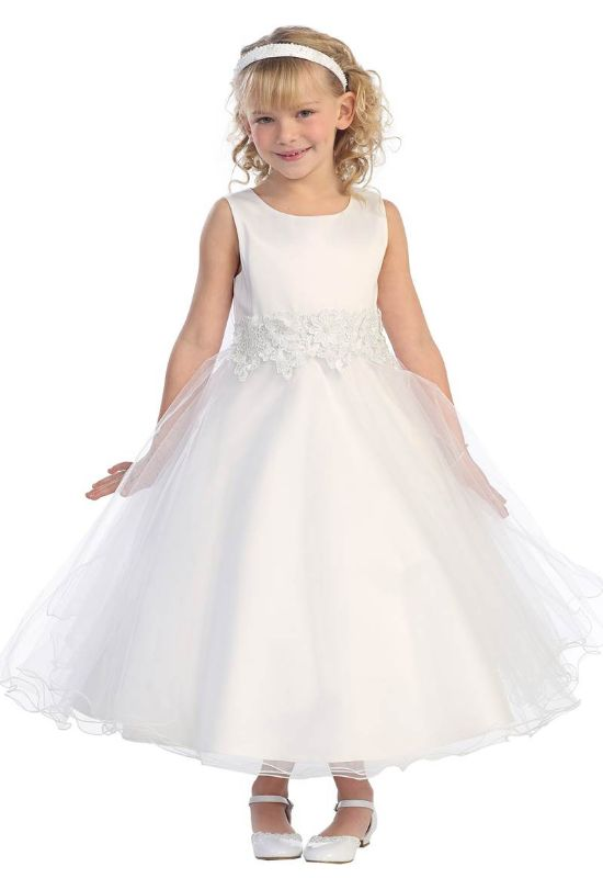 All White Princess Flower Girl Dress at LoveIt at Stella's in Baltimore Maryland