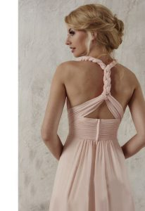 pink bridesmaid dress at love it at stellas bridal boutique in baltimore maryland