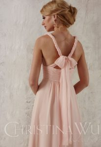 Christina Wu pink bridesmaid dress at love it at stellas bridal boutique in baltimore maryland