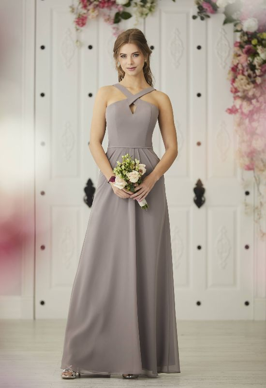 House of Wu Bridesmaids Christina Wu Celebration CollecCrisscross neck high neck bridesmaid at Love it at Stella's Bridal & Fashions in Westminster, MD