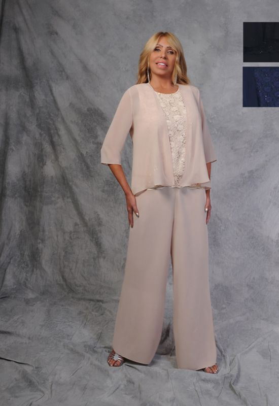 Mother of the Bride or Mother of the Groom outfit pantsuit dress jacket at Love it at Stella's Bridal & Fashions in Westminster, MD