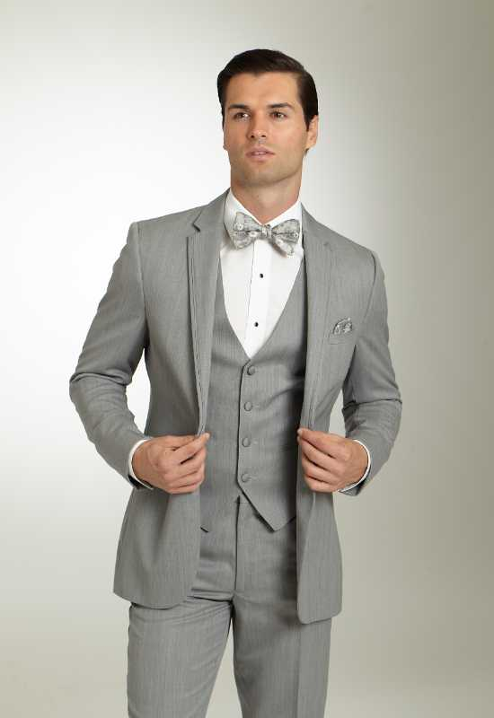 Michael Kohrs Chrome silver grey suit tuxedo Cornflower Blue Suit Tuxedo for rental and purchase at Love it at Stella's Tux Shop in Westminster, MD