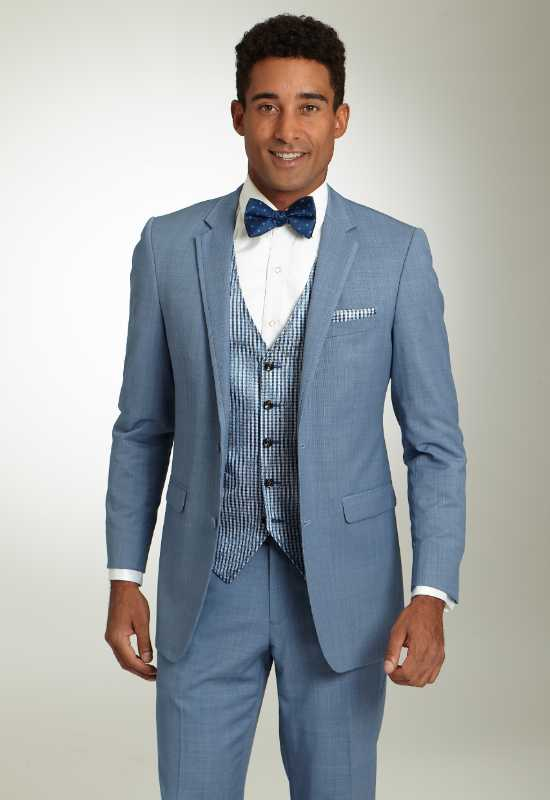 Cornflower Blue Suit Tuxedo for rental and purchase at Love it at Stella's Tux Shop in Westminster, MD