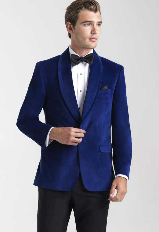 Velvet Royal Blue suit jacket for weddings prom and homecoming at Love it at Stella's Tux Shop in Westminster, MD