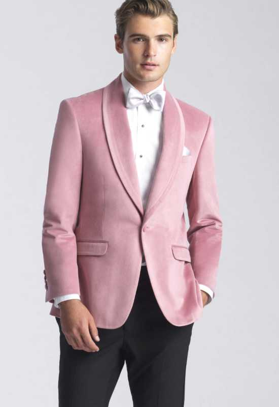 Dusty Rose Velvet Suit Jacket at Love it at Stella's Tux Shop in Westminster, MD