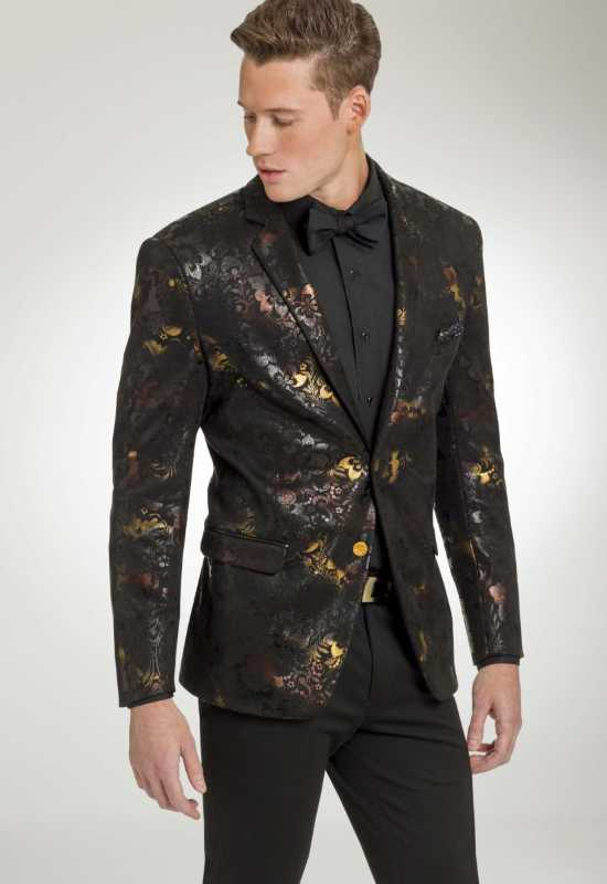 Black Floral Tux Suit Jacket for Weddings and Prom Homecoming at Love it at Stella's Tux Shop in Westminster, MD