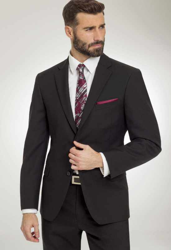 Black suit for rental and purchase at Love it at Stella's Tux Shop in Westminster, MD
