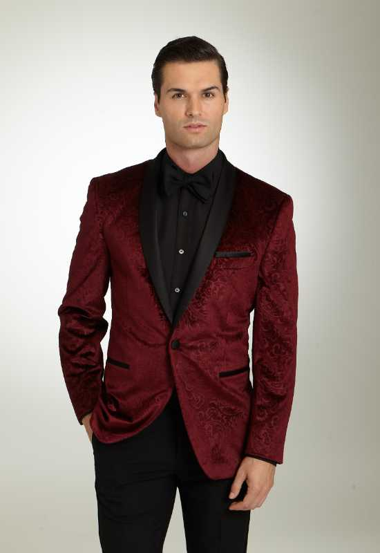 Burgundy Paisley Suit Jacket suit tux for rental or purchase at Love it at Stella's Tux Shop in Westminster, MD
