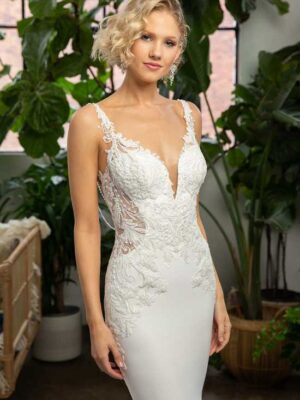 Lexi by Beloved by Casablanca Bridal Unique Wedding Dress with Back Necklace at Love it at Stella's bridal in Greater Baltimore, MD