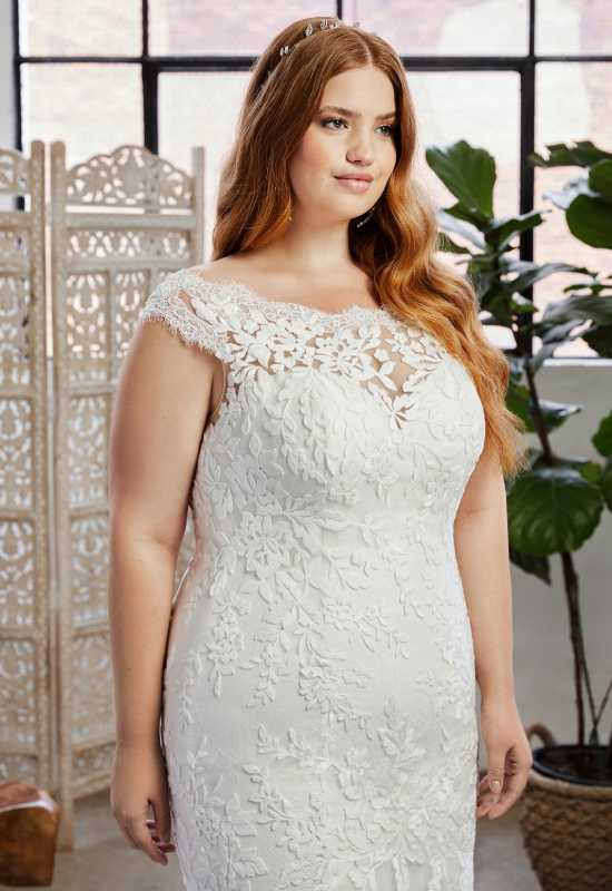 Mermaid Wedding Dress for Curvy Plus Size Bride at Love it at Stella's in Westminster, MD