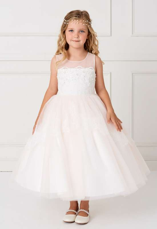 Tip Top Flower Girl Mini Quinceanera little girl formal Dress at Love it at Stella's Bridal in Westminster, MD