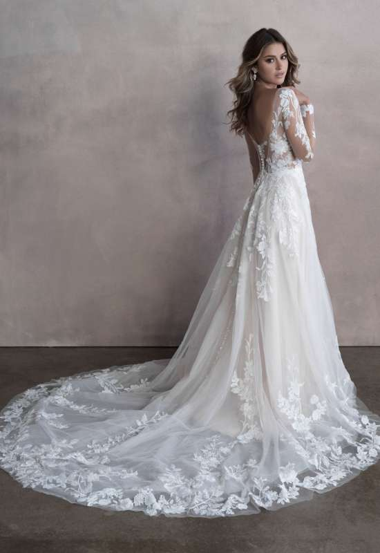 Alette by Allure Bridals long sleeve wedding dress at Love it at Stella's Bridal in Westminster, MD greater baltimore bridal shop