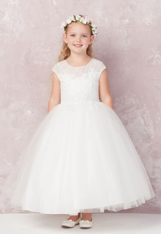 Tip Top Flower Girl First Communion little girl formal Dress at Love it at Stella's Bridal in Westminster, MD
