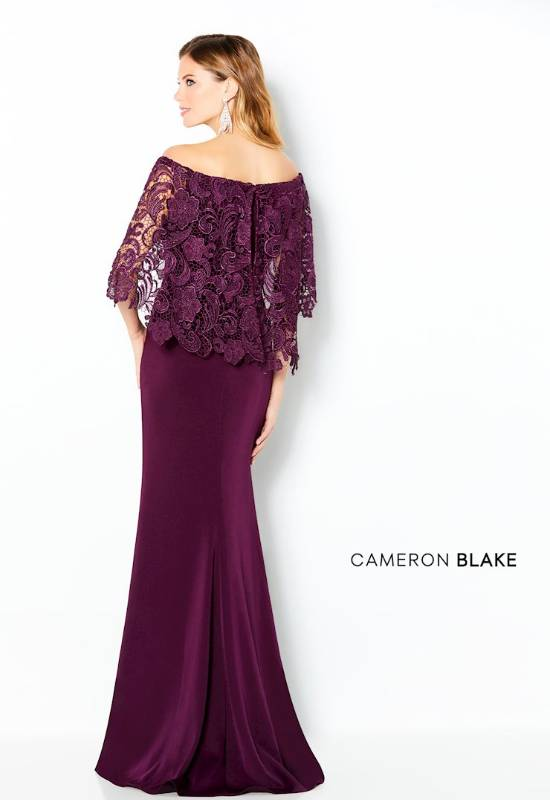 Cameron Blake Flutter sleeve off the shoulder mother of the bride dress at Love it at Stella's Bridal in Westminster, MD