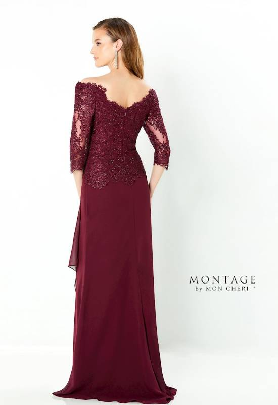 Montage by Mon Cheri three-quarter sleeve long sleeve Mother of the Bride/Groom dress at Love it at Stella's Bridal in Westminster, MD