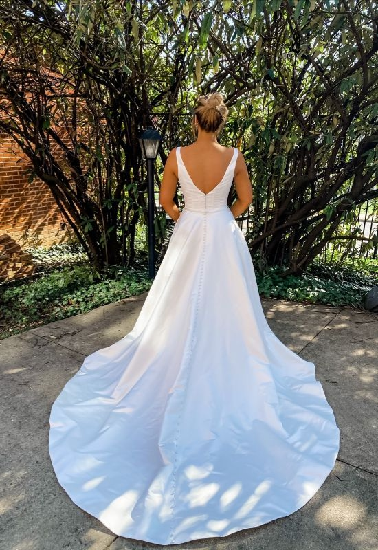 satin thick strap a-line wedding dress at Love it at Stella's Bridal and Fashions in Westminster Md