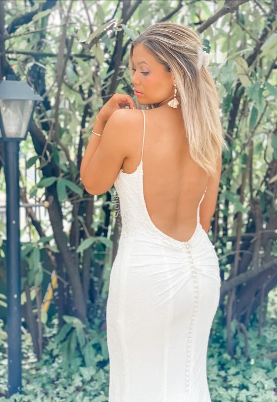 Low back lace Stellas Collection wedding dress in westminster md at love it at stellas bridal