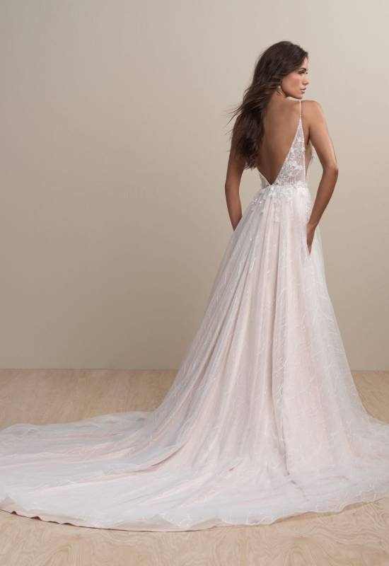 Jules by Abella Bride soft tulle 3D flower sparkling wedding dress at Love it at Stella's Bridal in Westminster, MD