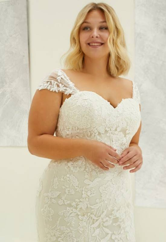 Madison by Modeca Curve plus size mermaid wedding dress at Love it at Stella's Bridal in Westminster, Maryland