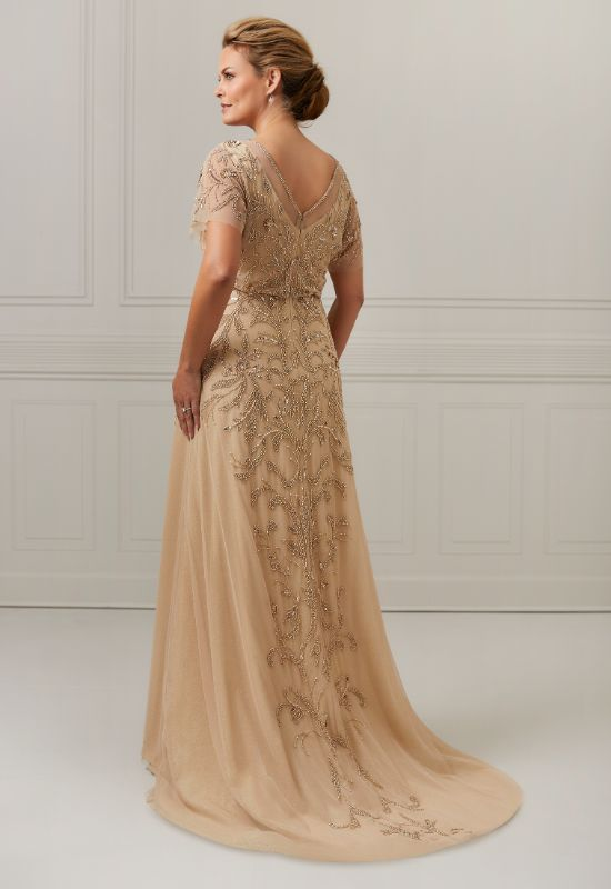 Christina Wu Elegance 17047 Mother of the Bride/Groom Formal beaded dress with flutter sleeves at Love it at Stella's Bridal in Westminster, MD
