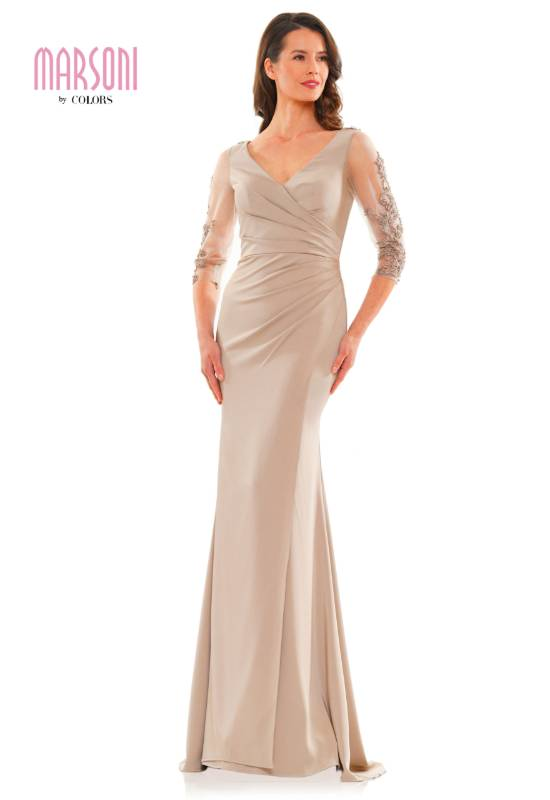 Mother of the Bride dress with sleeves at Love it at Stella's Bridal in Westminster, MD
