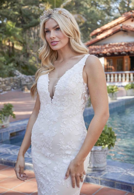 Blakelyn by Beloved by Casablanca Bridal tank style deep v neckline fitted Wedding Dress at Love it at Stella's Bridal Shop in Maryland