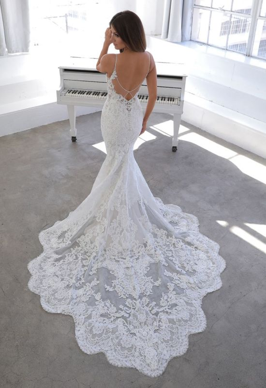 Nini by Blue by Enzoani mermaid lace dress at Love it at Stella's Bridal Shop in Westminster, Maryland