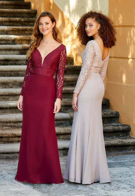 Christina Wu Celebrations lace longsleeve bridesmaids dress at Love it at Stella's Bridal Shop in Westminster, Maryland
