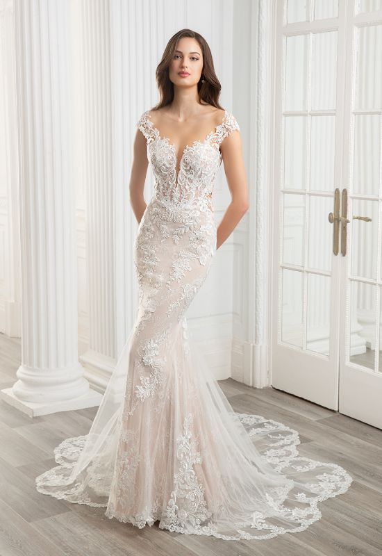 Cameron cap sleeve by Elysee Enzoani at Love it at Stella's Bridal in Westminster, Maryland