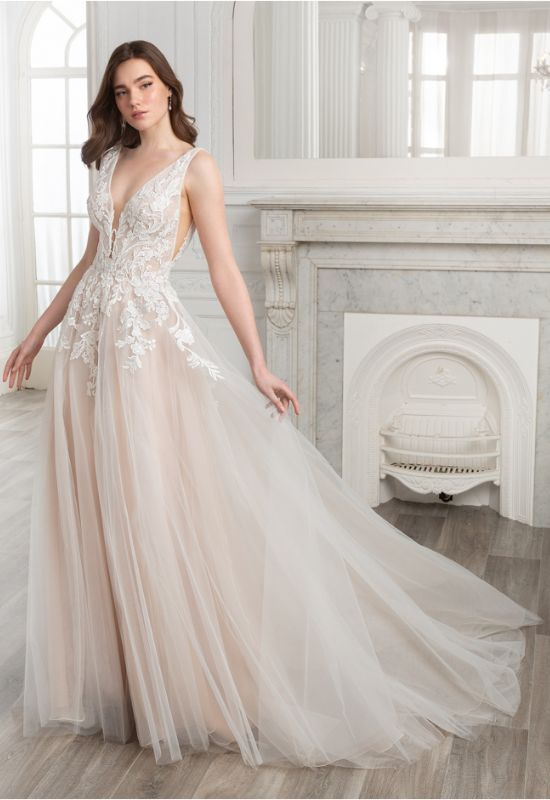 Soleil by Etoile by Elysee Bridal Design soft flowy a-line wedding dress at Love it at Stella's Bridal Shop in Westminster, Maryland